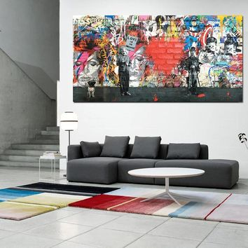 Love is the Answer Abstract Graffiti Canvas Painting Poster and Prints Europe POP Wall Art Pictures for Living Room Decoration