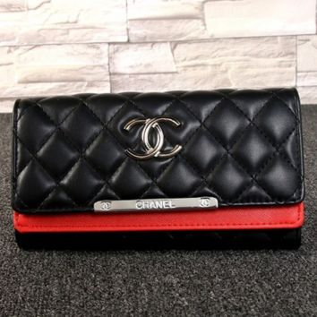 CHANEL Women Fashion Leather Buckle Wallet Purse G-MYJSY-BB