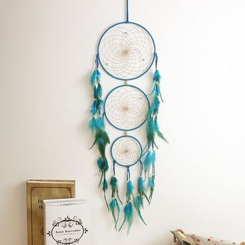 Huge Antique Imitation Enchanted Forest Dreamcatcher Gift Handmade Dream Catcher Net With Feathers Wall Hanging Decoration Ornam