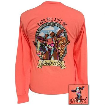 Girlie Girl Originals Preppy Brand Of Cattle Long Sleeve T-Shirt