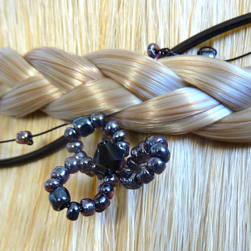Hair vine, black, short, handmade, accessories, womens, gothic, wedding