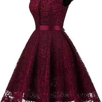 Short Cocktail Dresses Floral Lace Retro Vintage Rockabilly Evening Party Dress Prom Homecoming dress