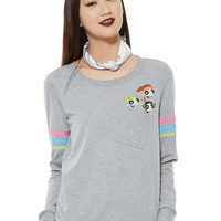 The Powerpuff Girls Trio Pocket Girls Pullover Top