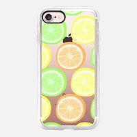 Citrus Wheels - Transparent/Clear Background iPhone 7 Case by Lisa Argyropoulos | Casetify