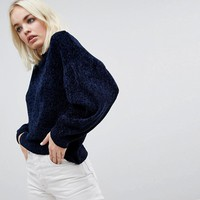 ASOS Jumper In Chenille With Wide Sleeves at asos.com