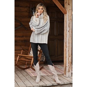 Find Your Place Sweater (Taupe/Brown)