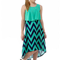 Sequin Hearts Chevron Dress Girls 7-16 - Belk.com