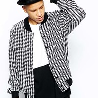 American Apparel Bomber Jacket In Houndstooth at asos.com
