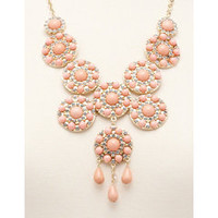 Princess Medallion Bib Necklace: Charlotte Russe