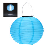 Blue Solar Powered LED Light Chinese Lantern Lamp