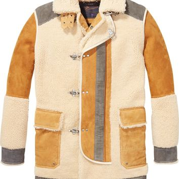 Lambskin Suede and Shearling Jacket by Scotch & Soda
