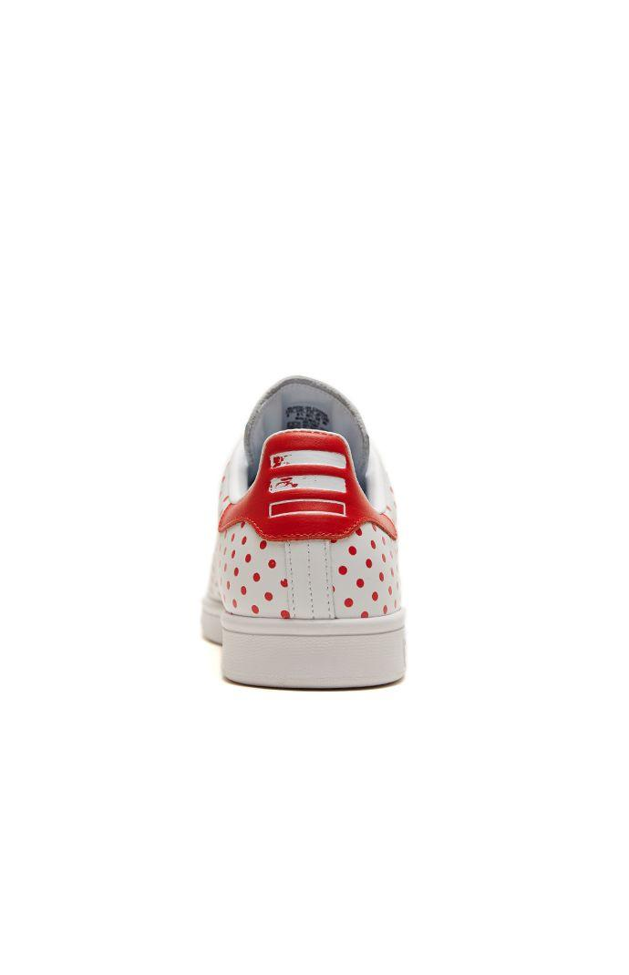 Adidas Pharrell Williams Stan Smith Shoes - Mens Shoes - White Red 3d592deaf1