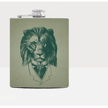 Lion hip flask - Gift for him - Hip flask - Gift for men - Gifts for men - Hip fasks - Flask