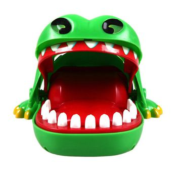1Pc New Baby toys Baby Kids Large Crocodile Mouth Dentist Bite Finger Game Funny Toy Children Gifts Brand Free shipping