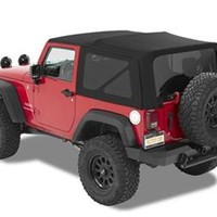 All Things Jeep - Bestop Replacement Soft Top with Tinted Windows for 2 Door Jeep Wrangler JK in Black Matte Twill (2010-2015)