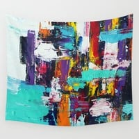 Focused Chaos Wall Tapestry by Dirty Mouth Art