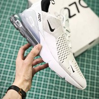 Nike Air Max 270 White Black Sport Running Shoes - Best Online Sale