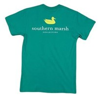 Southern Marsh Authentic SS Pocket Tee in Teal