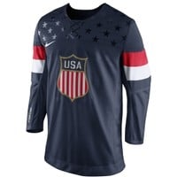 Nike Men's USA Blue Replica Hockey Jersey