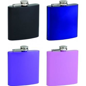 Personalized Powder-Coated Flask, Assorted Colors