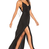 Capulet Gina Plunging Maxi Dress in Black | REVOLVE
