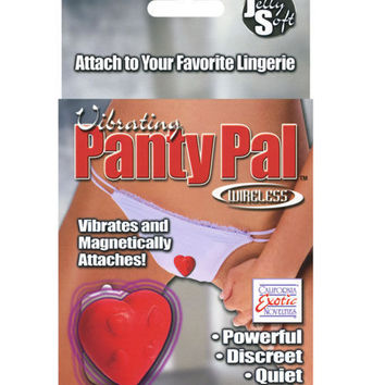Vibrating Panty Pal Heart - Red