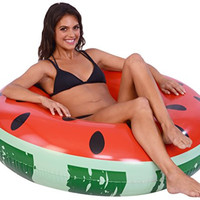Inflatable Pool Floats; Watermelon Pool Raft, 4 Ft.