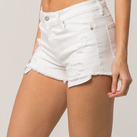 RSQ Venice Mid Rise Womens Ripped Denim Shorts