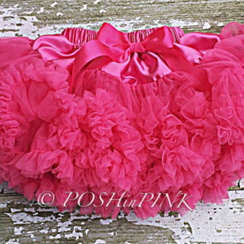 Hot pink chiffon pettiskirt, kids, petti skirt,holiday, Birthday, cream, baby, chiffon girls skirt, toddler, baby, tulle, tutu