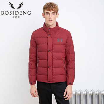 BOSIDENG 2017 new winter men duck down coat down jacket thick parka stand collar sold color high quality casual wear B1601103