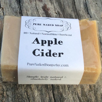 Apple Cider, antioxidant, organic apple soap, artisan soap, vegan cold process
