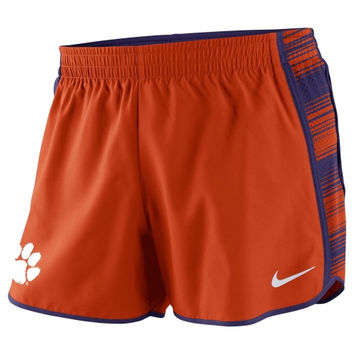 Clemson Tigers Nike Women's Warp Pacer Performance Shorts – Orange