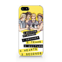 N-016-5 seconds of summer iphone 4 case iphone 4s case 5SOS iPhone 5 Case iPhone 5s Case 5SOS Samsung Galaxy S4 Case