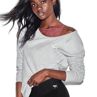 Open Neck Long Sleeve Tee - PINK - Victoria's Secret