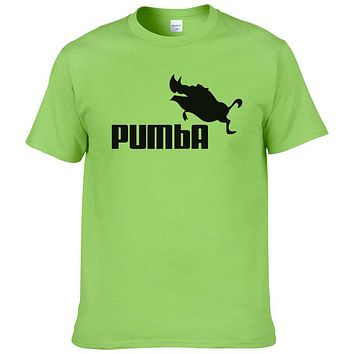 funny tee cute t shirts home Pumba men short sleeves cotton tops cool summer jersey costume t-shirt