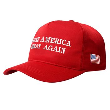 Make America Great Again Letter Print Donald Trump Hat 2018 Republican Snapback Baseball Cap Polo Hat For President USA Hat