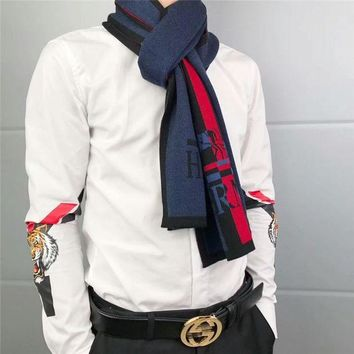 DCCKVQ8 Hermès' Gentleman Elegant Fashion Multicolor Stripe Logo Letter Cashmere Knit Shawl Men Scarf