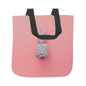 Tiny Pink Pineapple Tote Bag