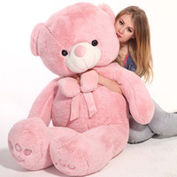 "Giant 57"" Big Plush pink Teddy Bear Huge Soft Toy Gift 145cm"