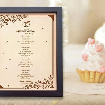 Lik19 Leather Engraved Wedding Third Anniversary Gift Personalized Anniversary Gift wedding First Dance Lyrics