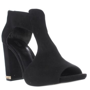 MICHAEL Michael Kors Sabrina Open Toe Peep Toe Booties, Black, 9.5 US / 40.5 EU