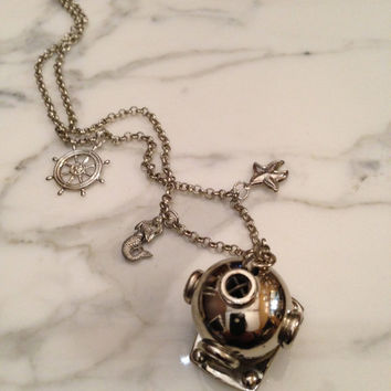 Nautical Diving Helmet Necklace