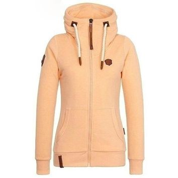 Women Hoodies Autumn Winter Hooded Sweatshirts High Collar Hooded Coat Jackets Plus Cashmere Hoodies Plus Size S-5XL