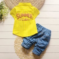 Baby Boys Sporty Denim Set