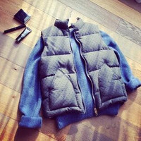 Women Casual Quilted Padded Zip Up Winter Vest Jackets Warm Outwear 199