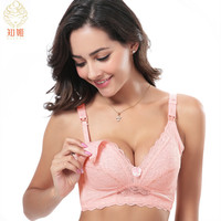ZeeChi Cotton Nursing Bra for Breast Feeding Pregnancy Women Front Closure Maternity Underwear upper opening B C D E F Cup  A103