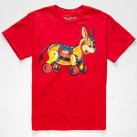 Neff Donkey Toy Boys T-Shirt Red  In Sizes