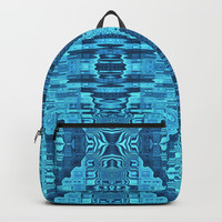Blue Glitch Backpack by Lyle Hatch