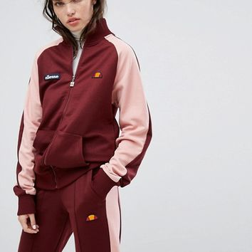 Ellesse Tracksuit Top With Contrast Sleeves And Sports Stripe at asos.com