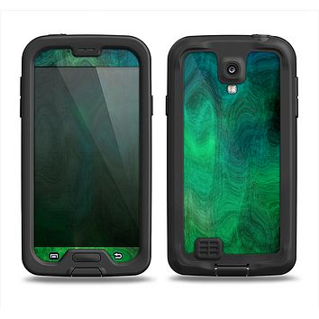 The Vivid Green Sagging Painted Surface Samsung Galaxy S4 LifeProof Nuud Case Skin Set